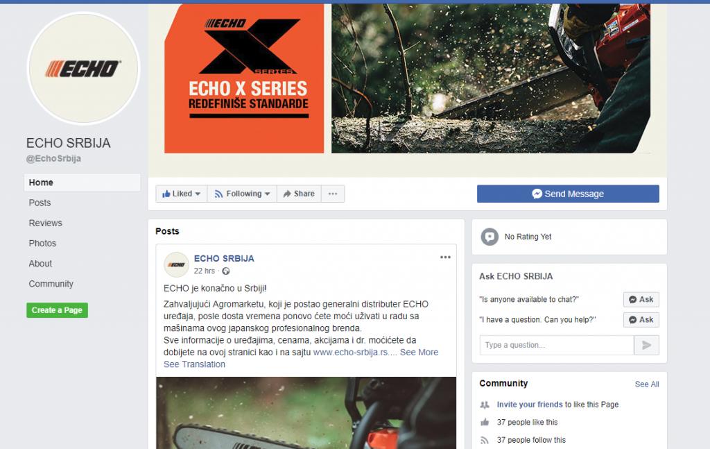 ECHO Srbija na Facebook i Instagram stranicama